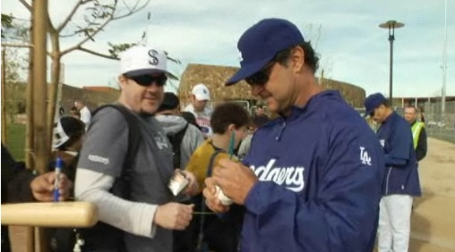 Don Mattingly at Camelback Ranch